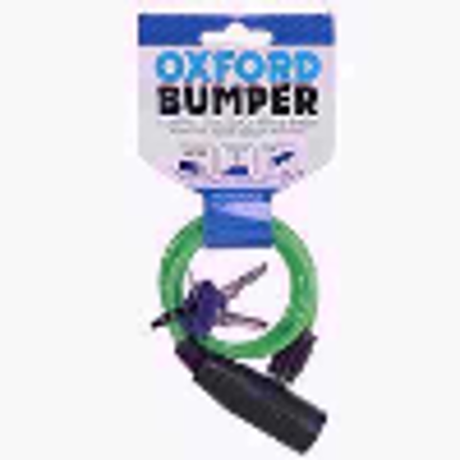 Picture of Oxford Bumper Compact Cable Lock - Kids/Childrens/Small - Various Colours (Green)