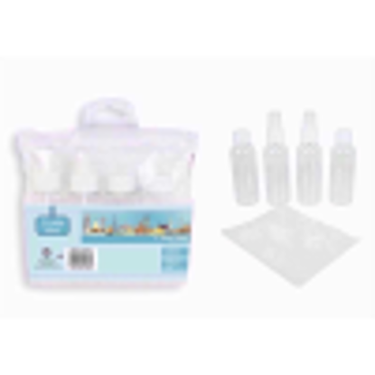 Picture of Brand New Travel Essentials 4pk See Through Travel Bottles