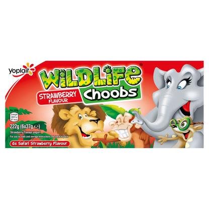 Picture of Wildlife Choobs Strawberry Yogurts 6X37g