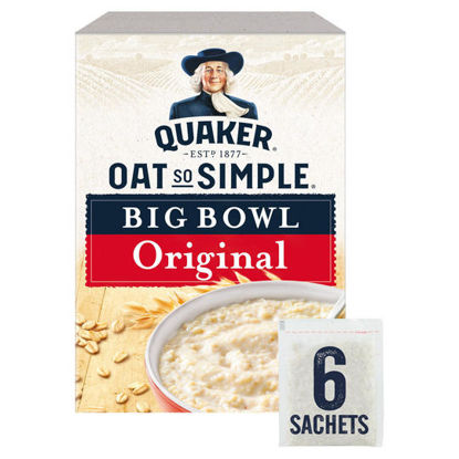 Picture of Quaker Oat So Simple Big Bowl Original Porridge 6 Pack 231G