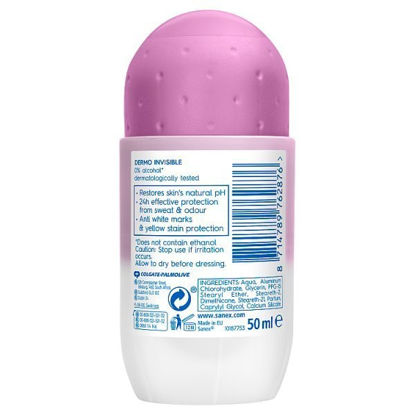 Picture of Sanex Invisible Dry Roll On Deodorant 50Ml