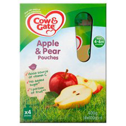 Picture of Cow & Gate Fruit Pouch Apple & Pear 100G X 4