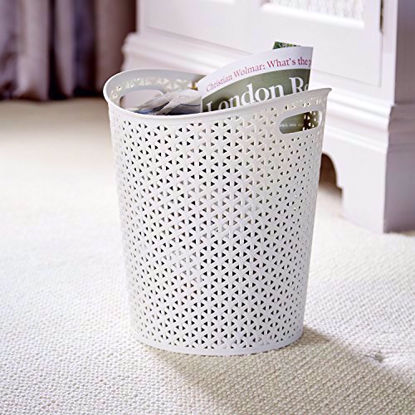 Picture of Curver My Style White Paper Bin 13 litre capacity - home, kitchen, office, bed room
