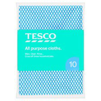 Picture of Tesco All Purpose Cloths 10 Pack