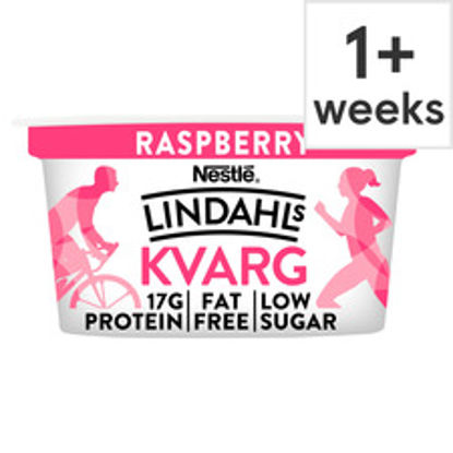 Picture of Lindahls Kvarg Raspberry 150G Pot