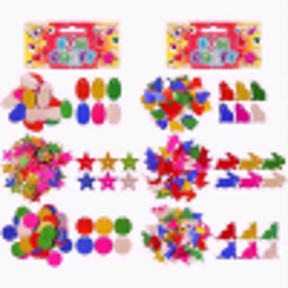 Picture of 2 Mixed Coloured Metallic Sequin Shapes & Animals Craft Packs