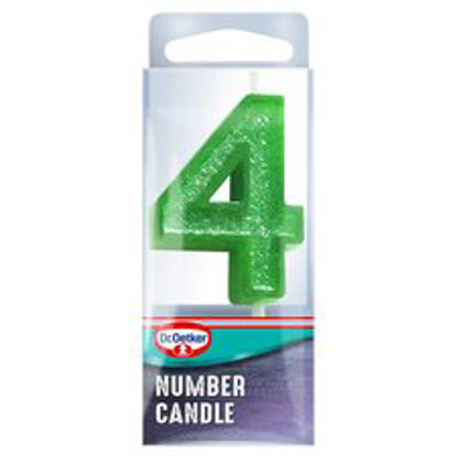 Picture of Dr. Oetker Number 4 Candle