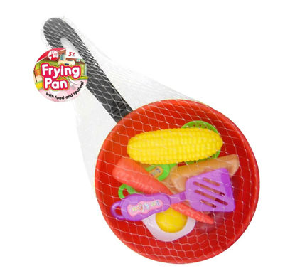 Picture of Frying Pan with Food & Spatula by Red Deer Toys