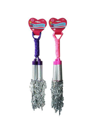Picture of A to Z Play Glittery Sparkly Jazzy Keep Fit Tassel Skipping Rope - Assorted Colours
