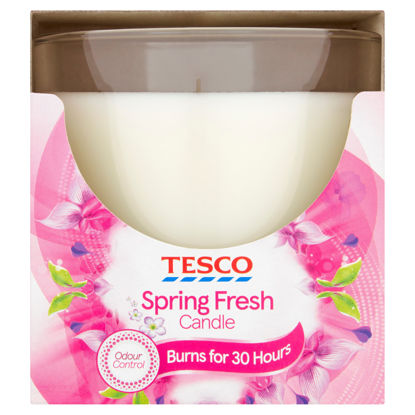 Picture of Tesco Spring Petals Round Candle