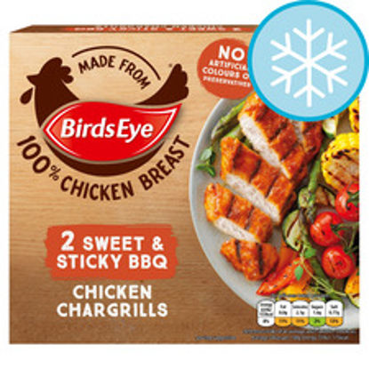 Picture of Birds Eye 2X Chicken Chargrills Sweet & Sticky 174G