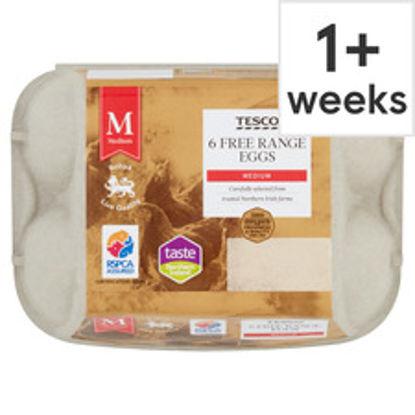 Picture of Tesco Medium Free Range Eggs 6 Pack