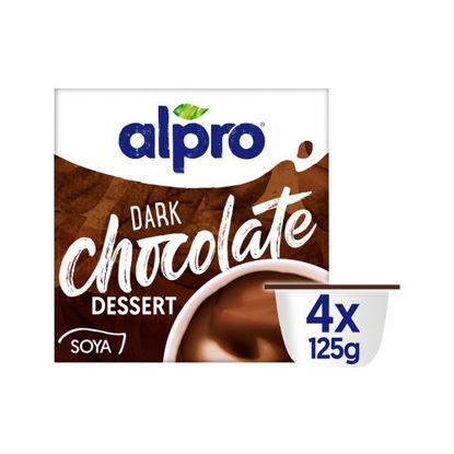 Picture of Alpro Dark Chocolate Dessert, 4 x 125g