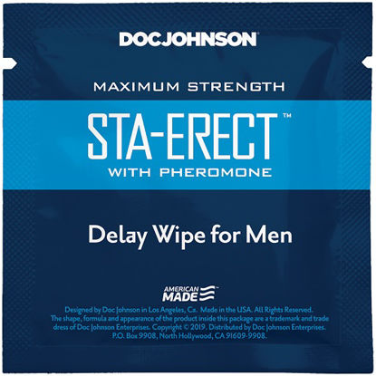 Picture of Doc Johnson Sta-Erect with Pheromone Delay Wipe For Men