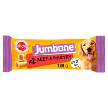 Picture of Pedigree Jumbone Beef & Poultry Flavoured 2 Pack 180G