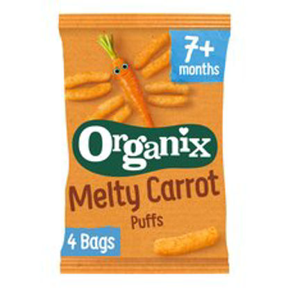 Picture of Organix Melty Carrot Puffs Multipack 4X18g