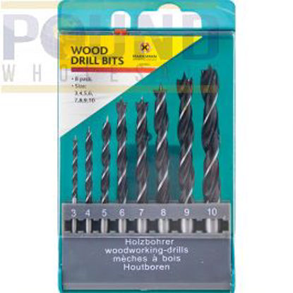 Picture of MARKSMAN WOOD DRILL BITS 8PC
