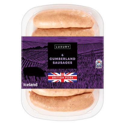 Picture of Iceland 6 Luxury Cumberland Sausages 340g