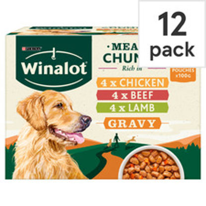Picture of Winalot Perfect Portions Meat in Gravy Dog Food, 12 x 100 g