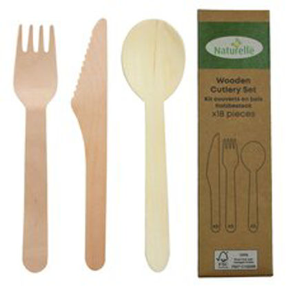 Picture of Wooden Mixed Cutlery 18 Pack