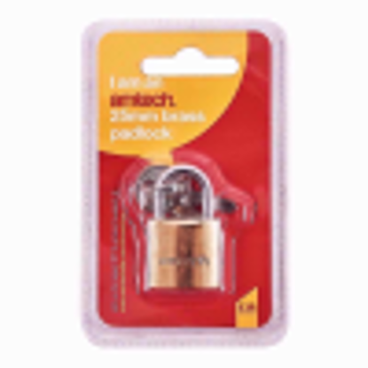 Picture of Am-Tech Brass Padlock with 25mm Double Blister