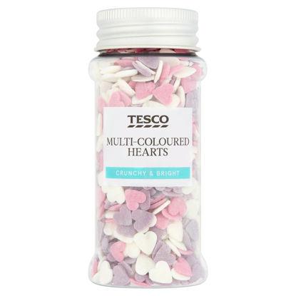 Picture of Tesco Multi Coloured Heart Sprinkles 60G