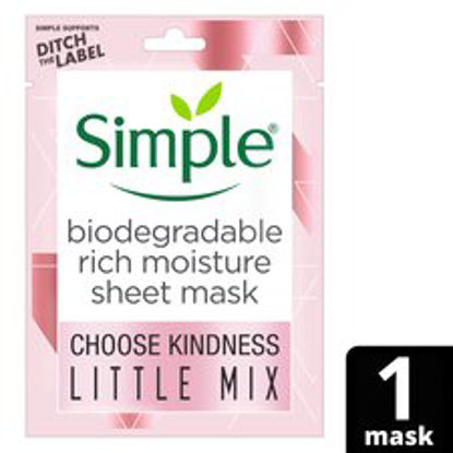 Picture of Simple Kind To Skin Rich Moisture Sheet Mask 21Ml