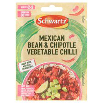 Picture of Schwartz Mexican Bean & Chipotle Vegetable Chilli Southern Mix 20G