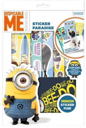 Picture of Despicable Me Minions Sticker Paradise With 4 Sheets of Reuasable Stickers and An Album