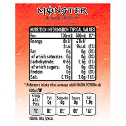Picture of Monster Ultra Red 500Ml