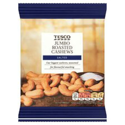 Picture of Tesco Jumbo Roasted Salted Cashew Nuts 150G