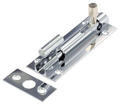 """Picture of Securit Chrome Necked Bolt 1"""" Wide - 75mm"""