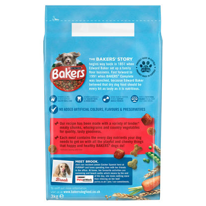 Picture of Bakers Dog Food Beef & Vegetable 3Kg