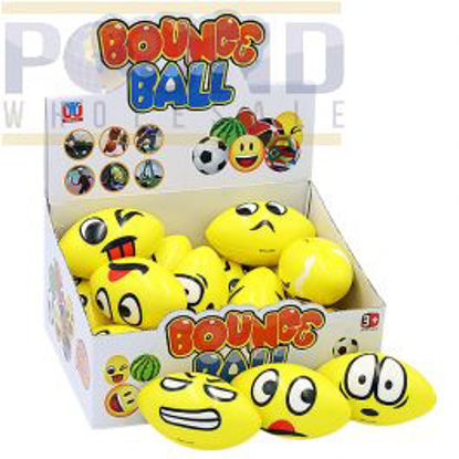 Picture of EMOTION RUGBY SPONGE BALL ASSORTED 12CM CDU 16PC