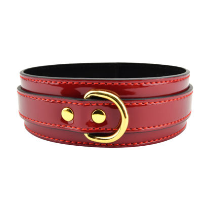 Picture of Bound to Please Red Bondage Collar