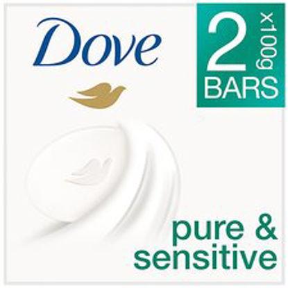 Picture of Dove Pure & Sensitive Cream Bar Set - 2x100g