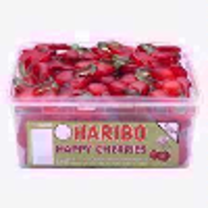 Picture of HARIBO HAPPY CHERRIES - CHERRY FLAVOURED SWEETS - FULL TUB