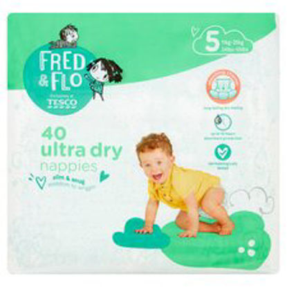 Picture of Fred & Flo 40 Ultra Dry Nappies Size 5