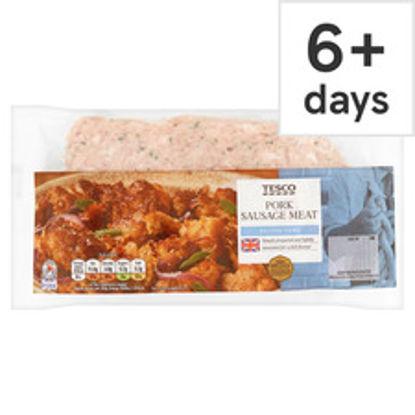 Picture of Tesco British Pork Sausage Meat 375G