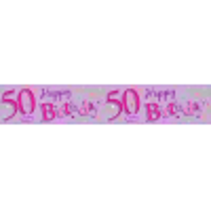 Picture of Happy 50th Birthday Party Giant Wall Banner 3 Banners Age 50 Party Decoration