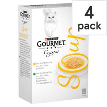 Picture of Gourmet Soup Chicken Variety Cat Food, 4 x 40 g