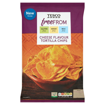 Picture of Tesco Free From Cheese Flavour Nachos 200G