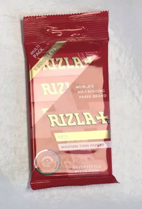 Picture of Rizla Medium Thin Red Cigarette Paper - Pack of 5 Booklets