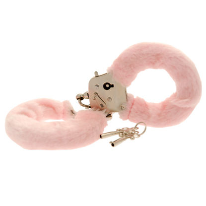 Picture of Toy Joy Furry Fun Hand Cuffs Pink Plush