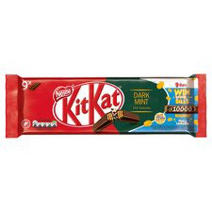 Picture of Kit Kat 2 Finger Dark Mint Biscuits 9 Pack 186.3G