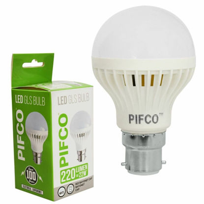 Picture of Pifco LED GLS Bulb - B22 Bayonet Cap - Cool White - 3W - 220 Lumens