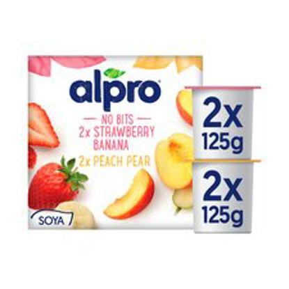 Picture of Alpro Smooth Fruit Yogurt 4X125g