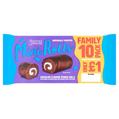 Picture of Hoppers Chocolat Mini Rolls 10 Pack