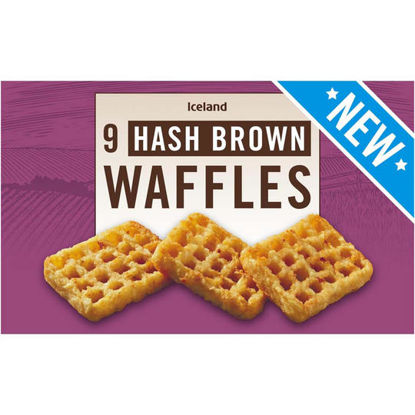 Picture of Iceland 9 Hash Brown Waffles 504g