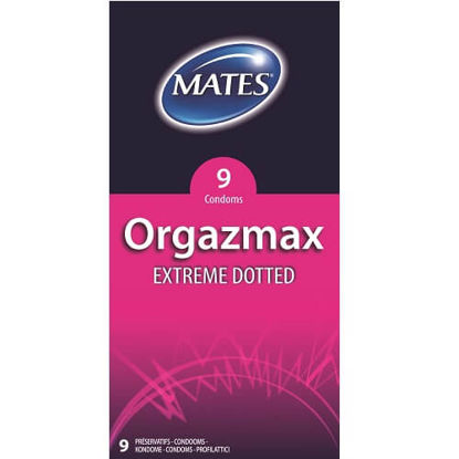 Picture of Mates Orgazmax Extreme Dotted Condoms 9 Pack